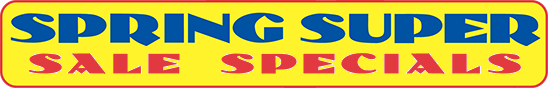Super Spring Sale Specials on Swimming Pool Equipment