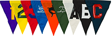 Competitor Lettered and Numbered Nylon Backstroke Flags