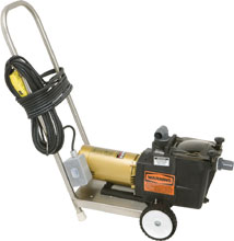 Economy Vacuum Pump with Stainless Steel Cart