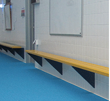 Wall Mounted Aluminum Benches