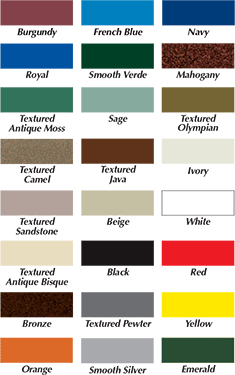 Vinyl strap color options for pool furniture - chairs and lounges.