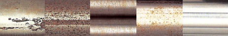 Stainless Steel at Various Stages of Corrosion and Repair