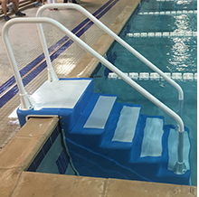 ADA Easy Stairs - ADA Compliant Swimming Pool Access Stairs