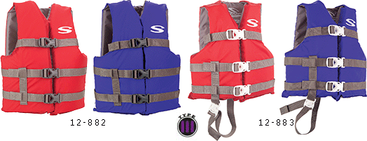 Youth and Child Classic Series USCG Approved Type 3 Life Vests