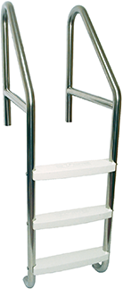 Cross-Braced Pool Ladder with Cycolac Treads