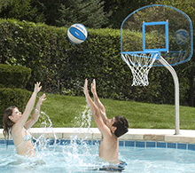 Deck-Mounted Swimming Pool Basketball Game