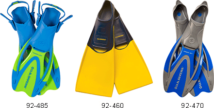 Diving and Snorkeling Fins