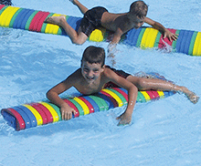 Flat Water Roll Float Children's Play Log