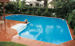 Inground Grecian True L Shape Swimming Pool