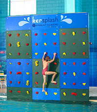 Kersplash Pool Climbing Wall with Color Panels