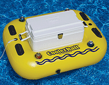 RiverRough CoolerRaft Pool Float with Built-in Cooler