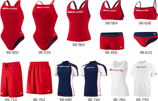 Speedo Lifeguard Swim Wear for Women and Men