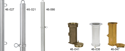 Swimming Pool Deck Stanchion Post and Anchors