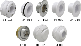 Swimming Pool Wall Body and Flow Inlet Fittings