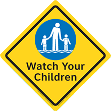 Clarion Safety Diamonds Sign - Watch Your Children
