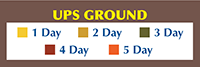 UPS Ground Shipping Map Day Legend