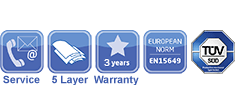 Wibit Modules Service, Quality, Warranty and Safety Icons