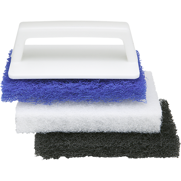 Multiple-Purpose Swimming Pool Cleaning and Scrub Brush