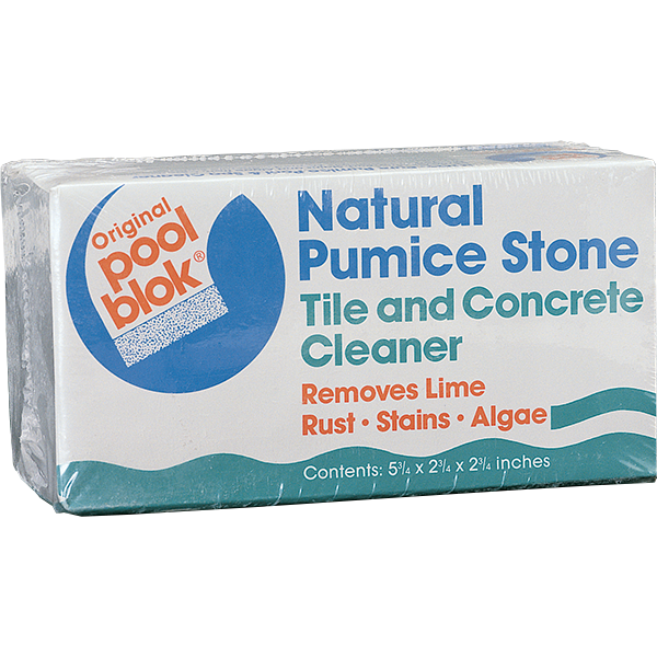 Poolblok pumice stone tile and concrete cleaner single unit for Natural concrete cleaner