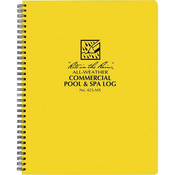 Commercial Swimming Pool And Spa Maintenance Log