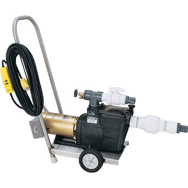 Recreonics standard vacuum pump with stainless steel cart.