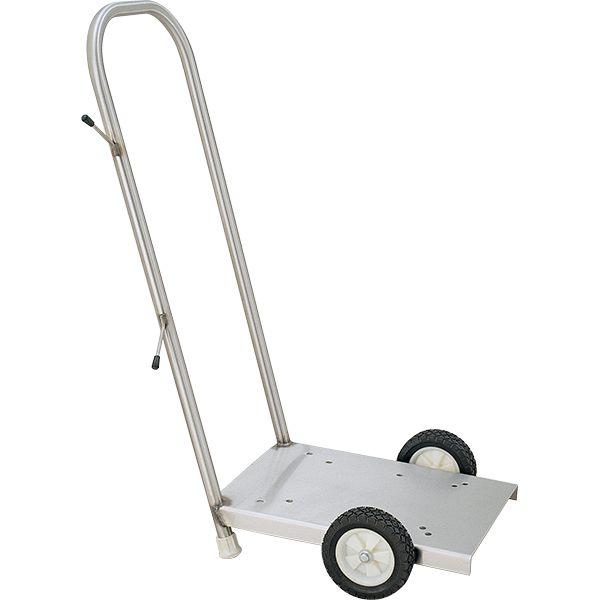 Recreonics T-304 stainless steel pump cart is used with all of our swimming pool vacuum pumps and filters and can be purchased separately.