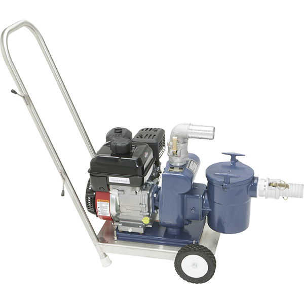 Recreonics heavy-duty vacuum pump is perfect for pool spring clean-up, featuring a 3HP Briggs & Stratton motor with a cast iron pump housing and strainer.