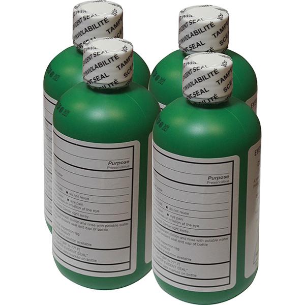 Bacteriostatic additive for portable emergency eyewash stations.