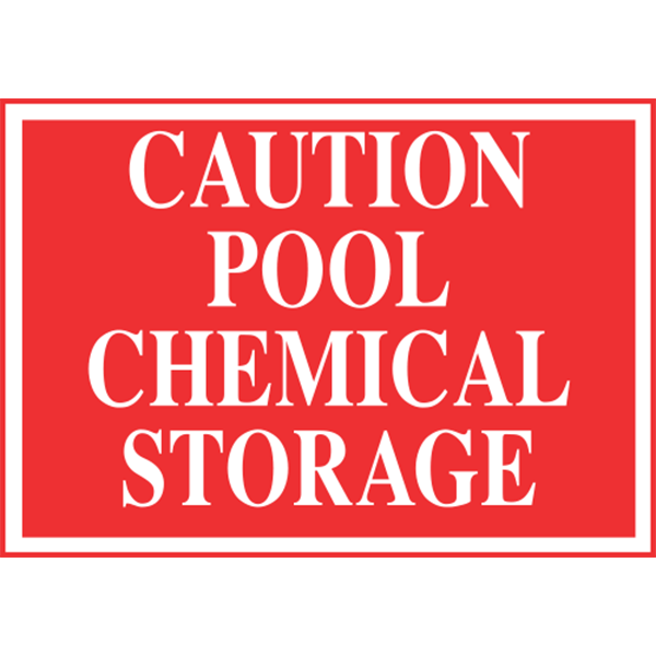 Caution Pool Chemical Storage Is Made Of Thick Durable Polyethylene Plastic With 3 16