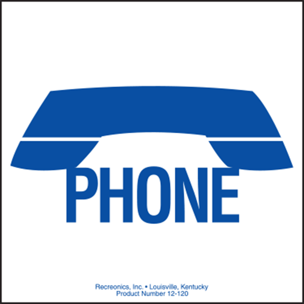 """Telephone Symbol sign is made of thick, durable polyethylene plastic with 3/16"""" eyelets in each corner for easy installation."""