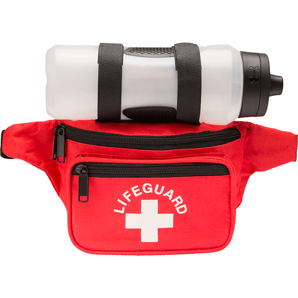 1af6a9cb99c6 Lifeguard responder fanny pack with lifeguard and cross logo. Three  spacious pockets allow for versatility