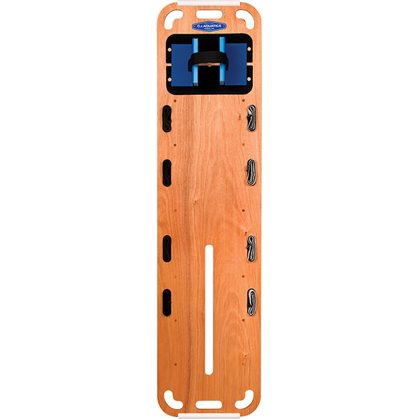 C J Prowood 1000 Spineboard Complete Rescue Kit is marine-grade okoume plywood, hardwood maintains neutral buoyancy and maneuverability for the life of the board.