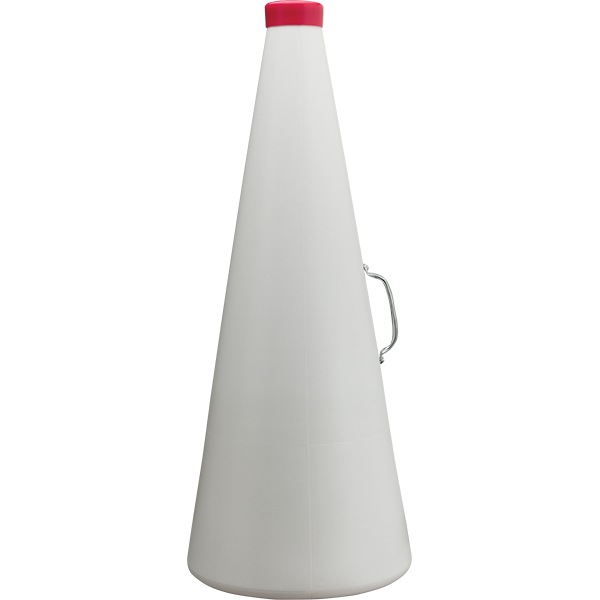 19 inch Lightweight Waterproof Molded White Plastic Megaphone