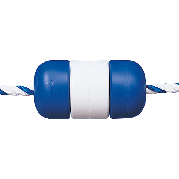 "30' swimming pool safety line kits with 3/4"" floating rope are ideal for beach fronts, pool safety lines or marker ropes. Includes Handi-Lock floats."