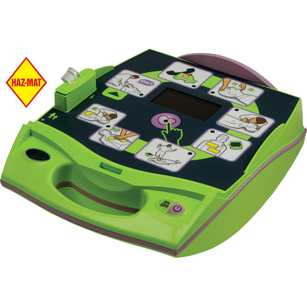 Zoll AED Plus is an easy to use automated external defibrillator that features an easy to place one-piece, chest-sized, pre-connected dual-electrodes and lit graphical step-by-step instructions with corresponding voice and text prompts.