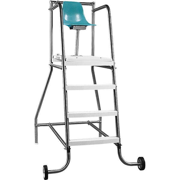 Paragon Aquatics' movable lifeguard chair is available in heights of 4', 6' and 8'.