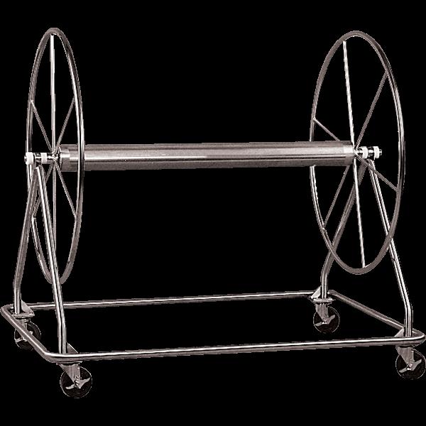 Paragon stainless steel racing lane line storage reel.