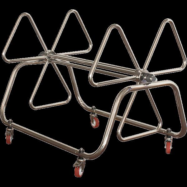 T-316 electro-polished stainless steel swim racing lane storage reel.