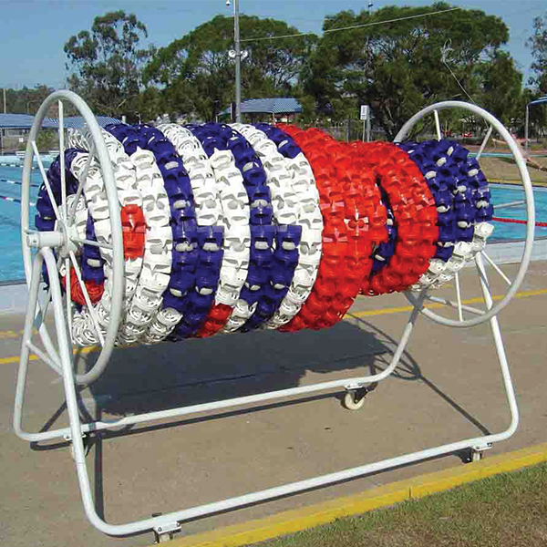 Anti-Wave Ultimate swim racing lanes storage reel.