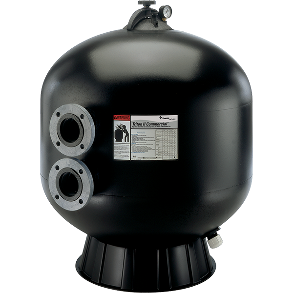 Pentair's Triton C-3 Series Semi-Commercial Swimming Pool Sand Filter with Flanged Connections