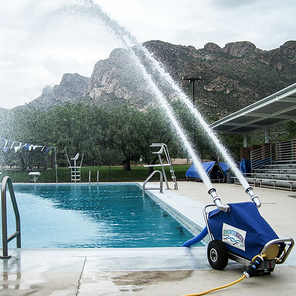 Watercannon aeration system 3.0 use natural aeration to cool swimming pool water, as much as 10 to 12 degrees.