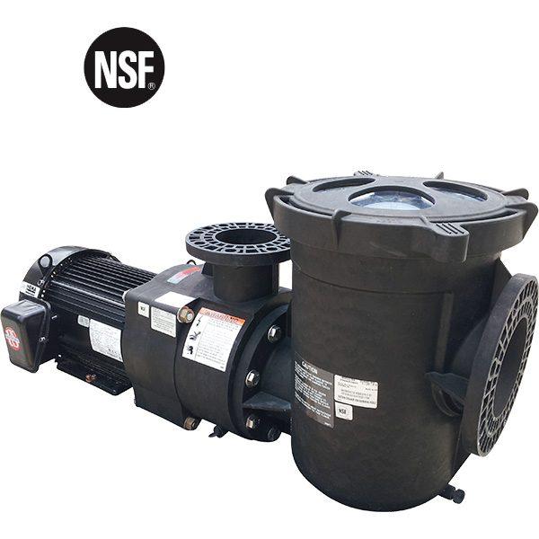 """Pentair EQ series of commercial swimming pool pumps offer efficient, quiet operation. Non-corrosive, plastic pumps with 6"""" suction, 4"""" discharge."""