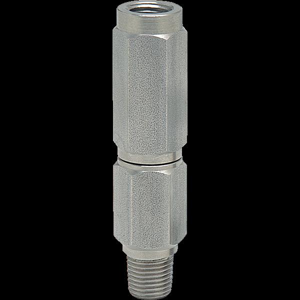 "1/4"" NPT stainless steel dampener for swimming pool gauges."