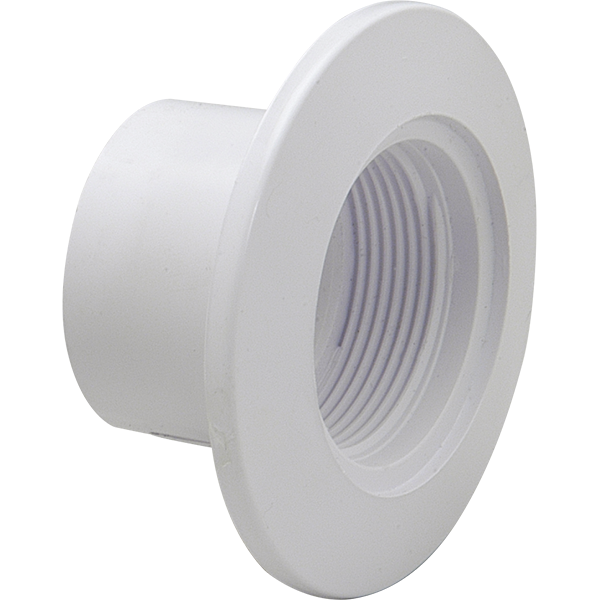 """Cycolac insider swimming pool wall body fitting fits inside 2"""" schedule 40 PVC pipe."""