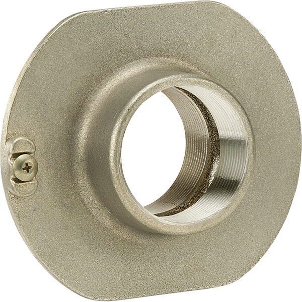 "2"" cast bronze no-leak flange with integral waterstop."