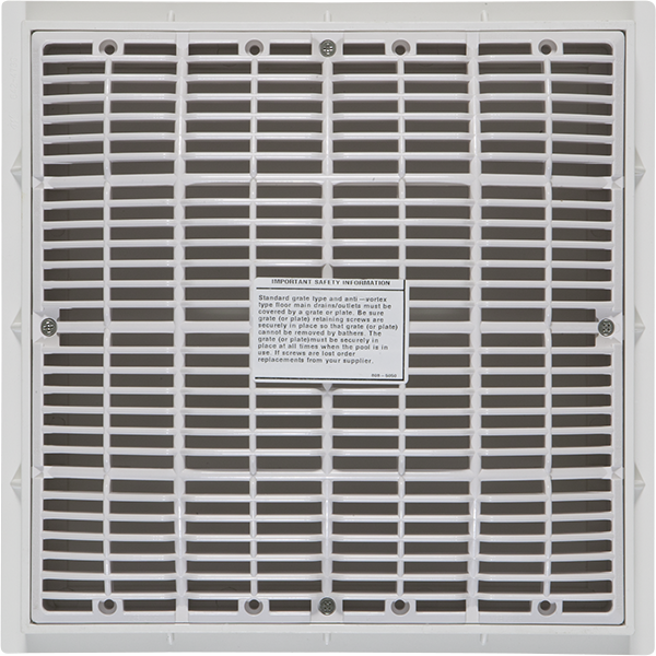 Waterway vgb frame and grate 12 inch x 12 inch pool for 12 x 12 floor drain grate