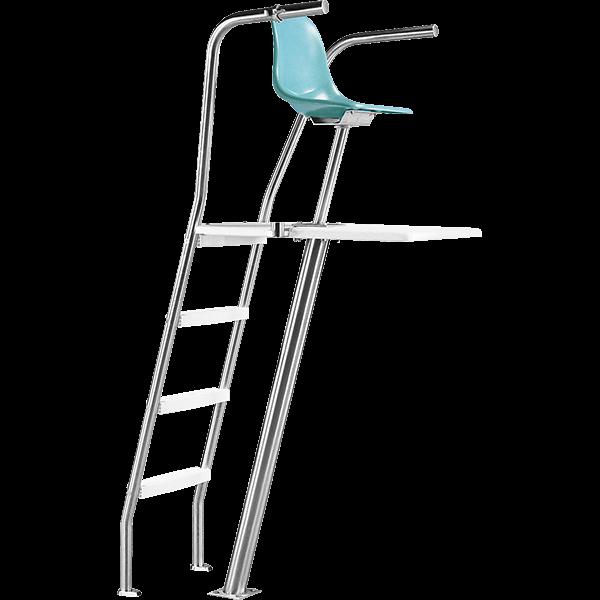 Paragon Ultraflyte Permanent Lifeguard Chair - Rear Ladder
