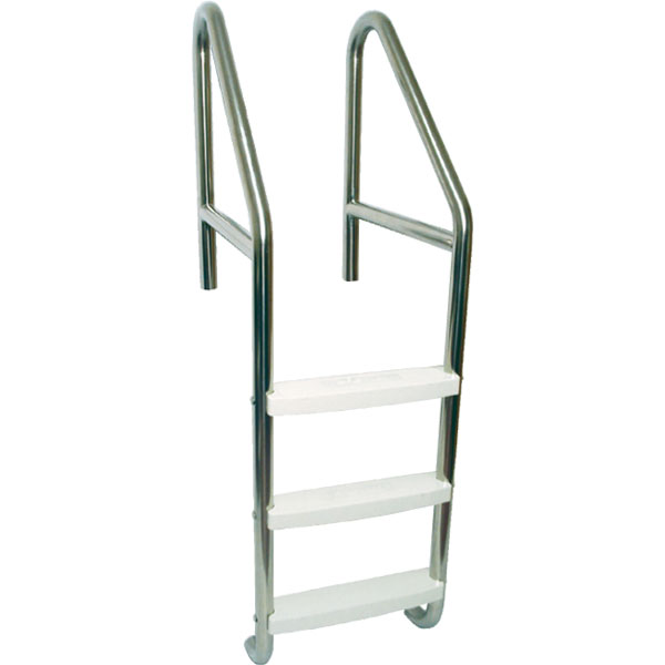 Stainless Steel Cross-Braced Swimming Pool Ladders with Polypropylene Plastic Treads