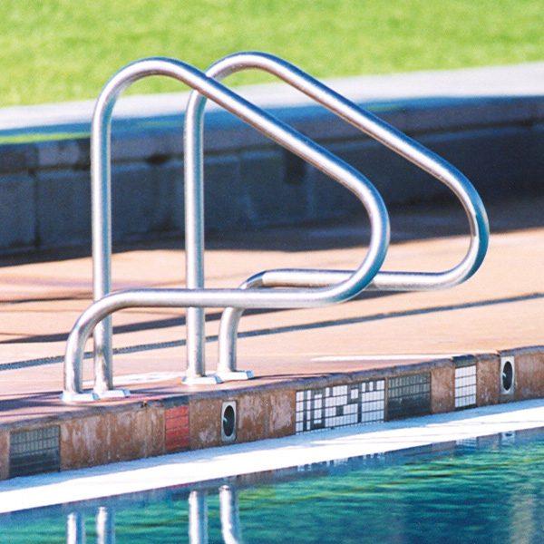 T-304 Stainless Long Reach Pretzel Bend Pool Grab Rails