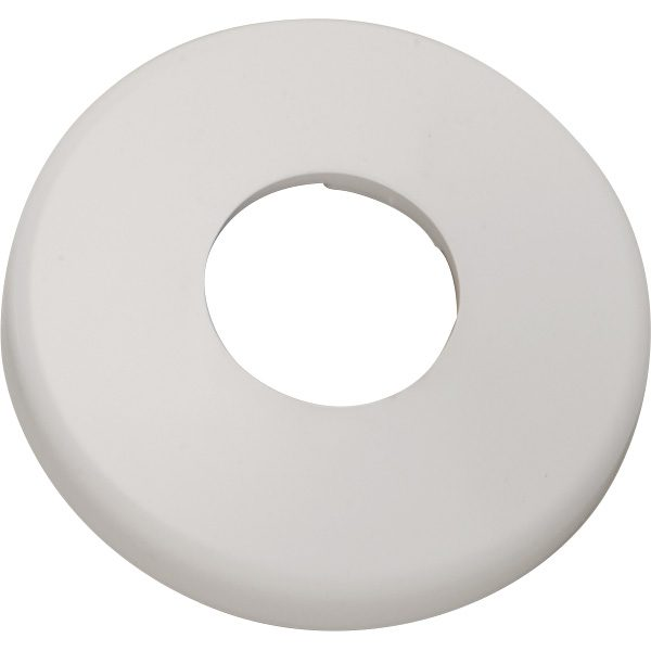 1.90 inch Round White Cycolac Plastic Pool Deck Escutcheon Plate
